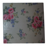 Ceramic Wall Tiles Made With Cath Kidston Pinny Flowers in Stone
